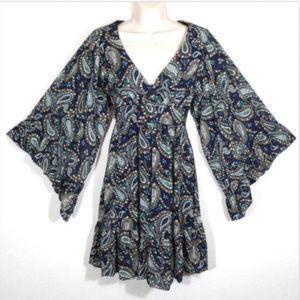 BETSEY JOHNSON Sheath Dress Bambi Boho 1389E1